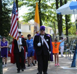 The Knights of Columbus lead the parade of athletes. Photo: Meredith Arout for Life-Wire News Service.