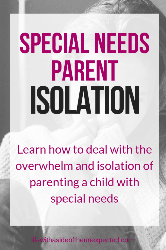 special needs parent isolation women feeling stress - alone