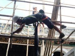 bamboo scaffolding, scaffolders