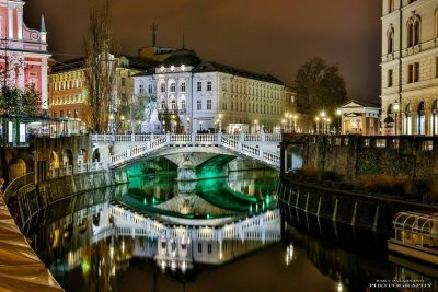Three bridges in Ljubljana
