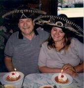 My grandfather and I at our last birthday dinner