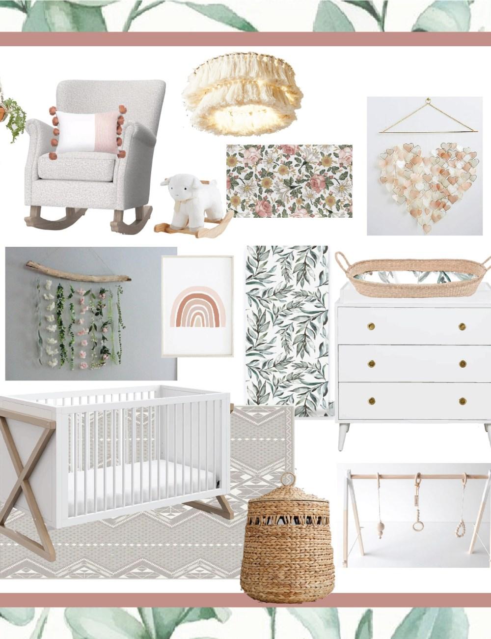 Baby Girl Boho Nursery Inspo