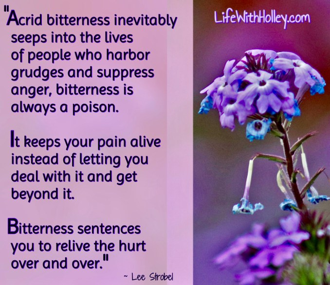 Bitterness causes Pain