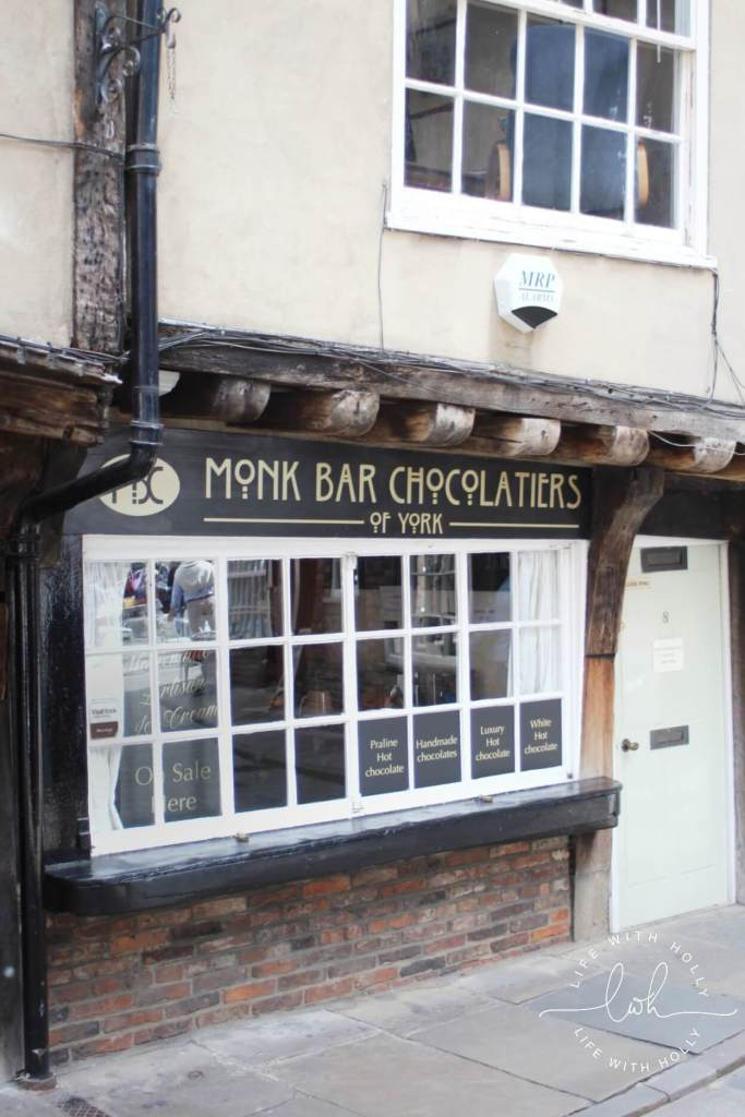 Monk Bar Chocolates - Harry Potter in York - Day Tripping - Life with Holly