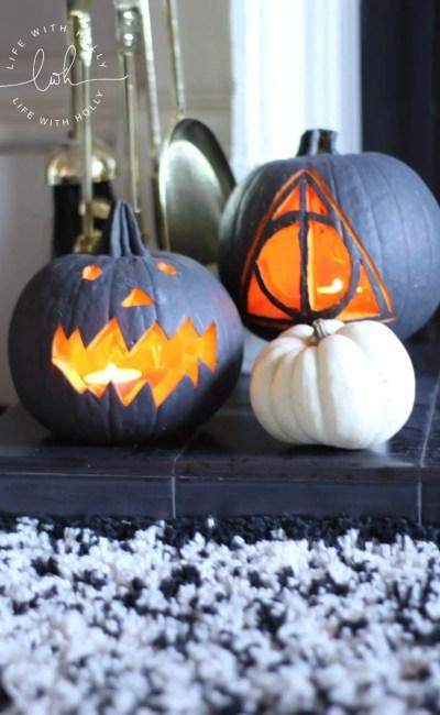 Modern Monochrome Halloween Pumpkins – a Tutorial