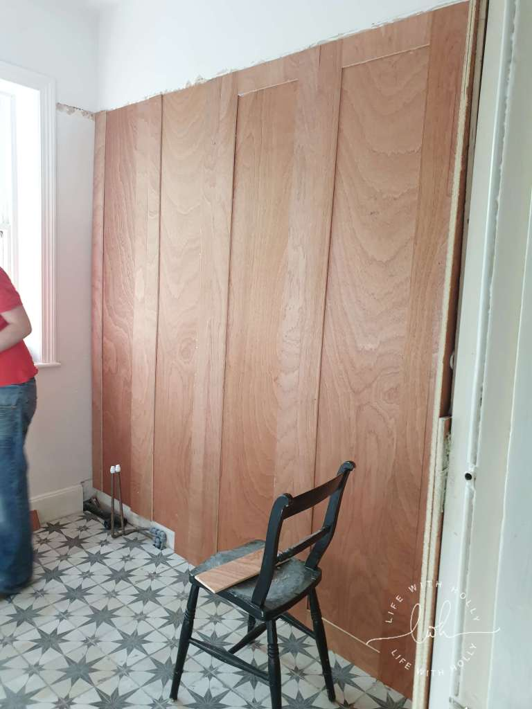 Tutorial for Wood Panelled Walls in a Bathroom by Life with Holly