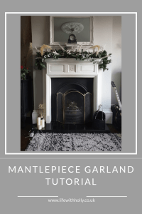 Dried flowers, faux foliage and pampas grass Christmas mantlepiece tutorial