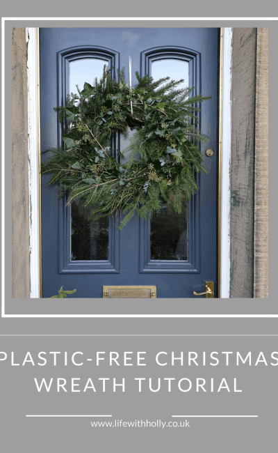 Plastic-Free Christmas Wreath Tutorial