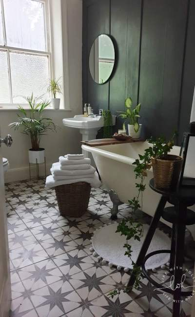 Modern Victorian Bathroom Makeover on a Shoestring