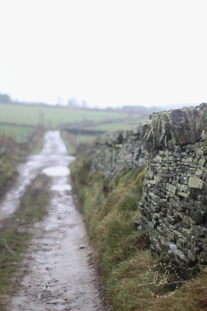 Muddy Track - Weekend-Wander-Round-Bradshaw, SlaithwaitePole-Moor-Huddersfield-Life-with-Holly-Geocache