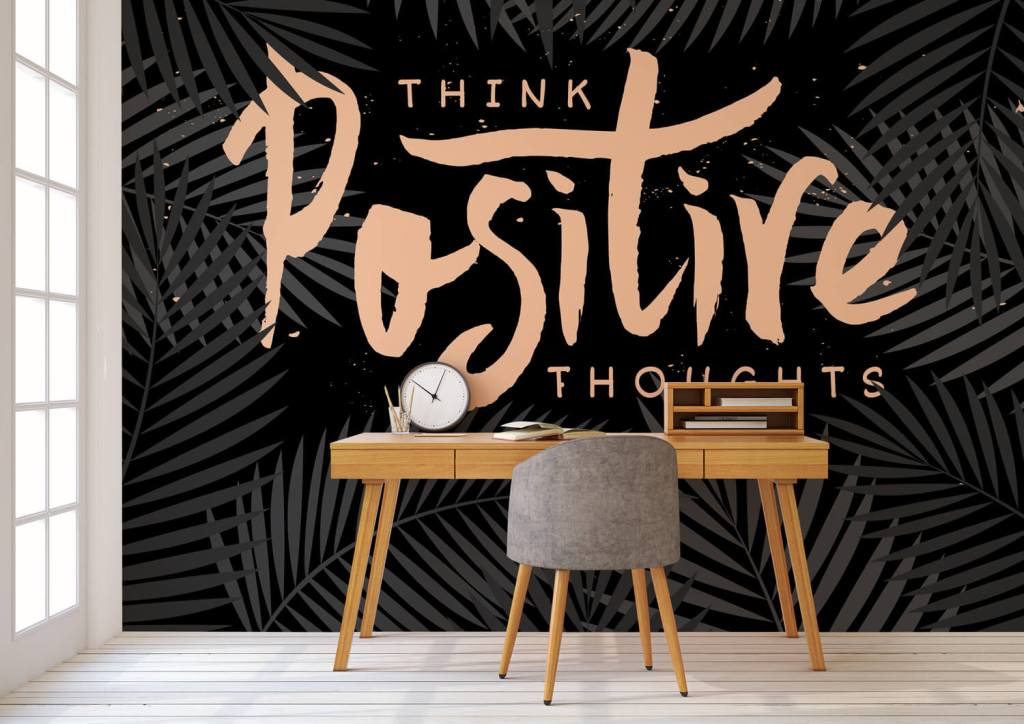 Wallsaucecom-Think-Positive-Thoughts-Mural-available-at-Wallsaucecom Home office ideas and inspiration