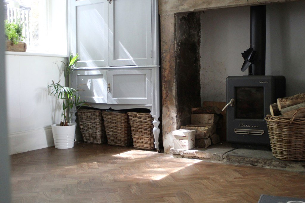 Spring Oak LVT Parquet Floor from Harvey Maria - Kitchen Floor Transformation by Life with Holly (30)