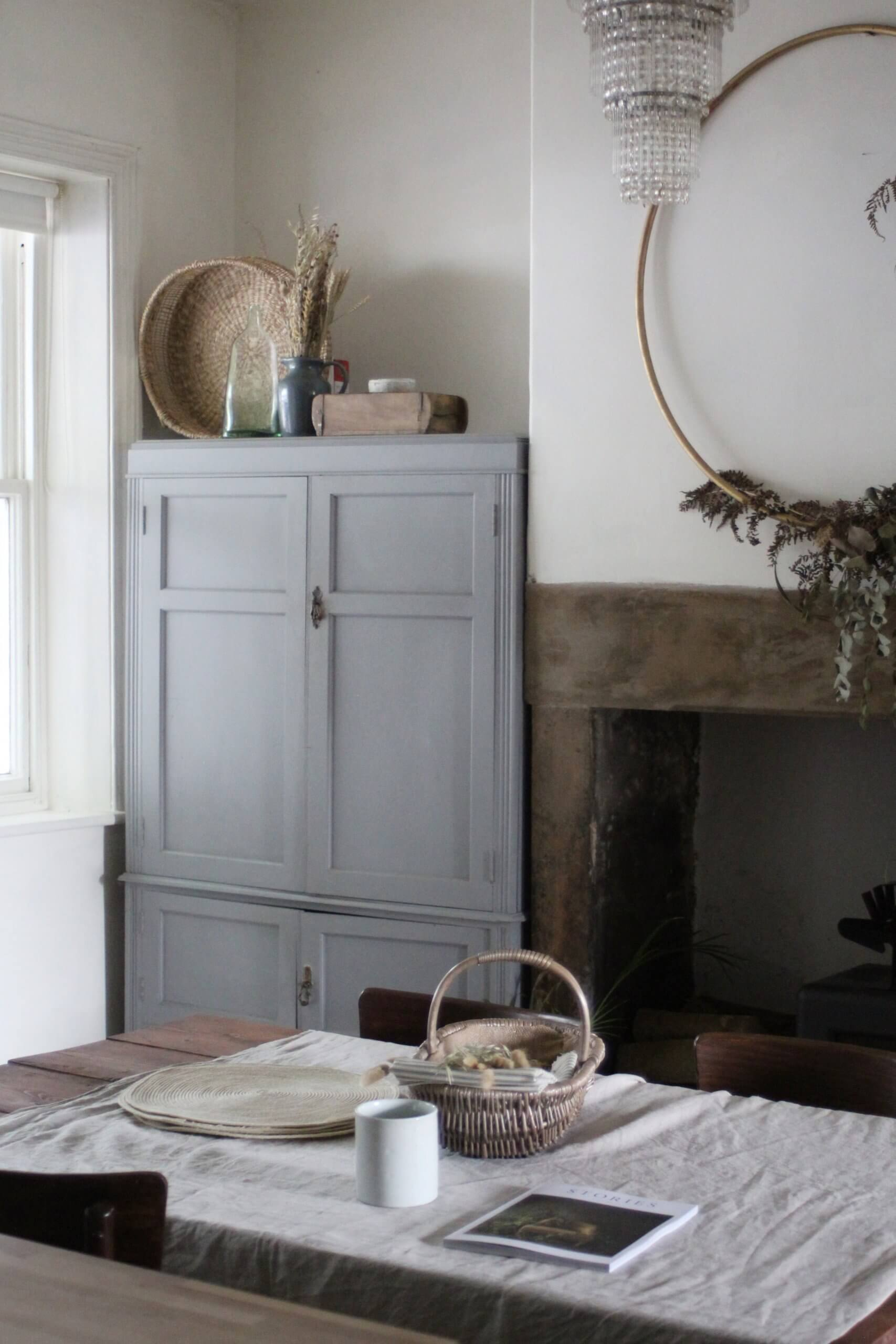 Rustic Grey Pantry Cupboard by Life with Holly - The Art of the Slow Renovation