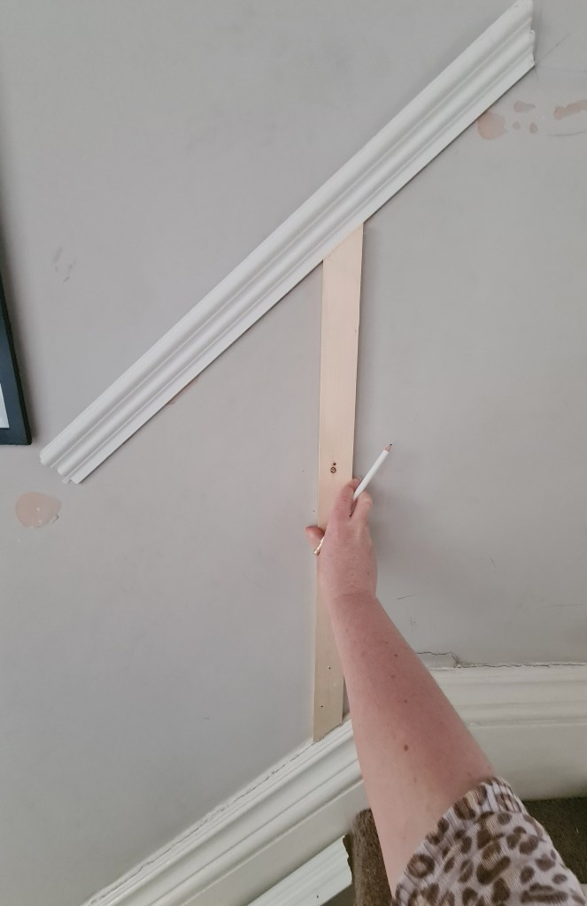 Progress shot from How to Panel a Staircase - a Tutorial on Hallway Wall Panelling