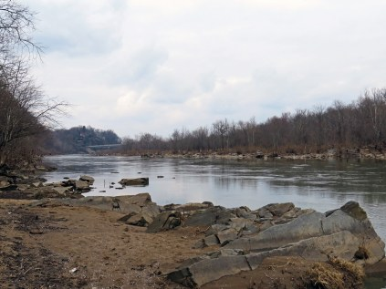 The Potomac River, with Chain Bridge in the distance