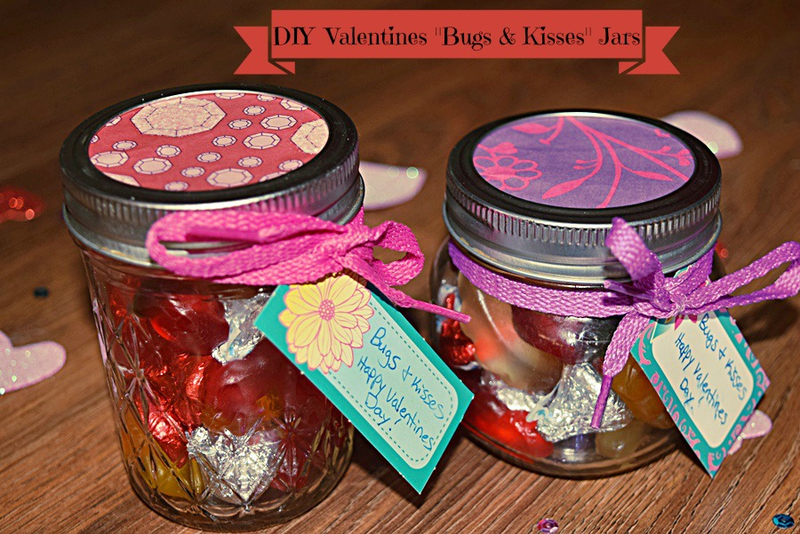 "DIY Valentine's ""Bugs & Kisses"" Jars"