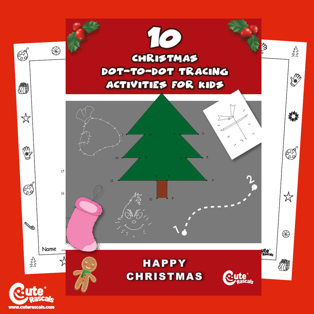 Christmas Dot To Dot Preschool Worksheets