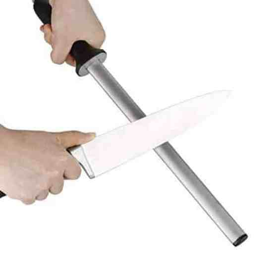 use sharpening rod for santoku