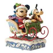 Mickey and Pluto statue