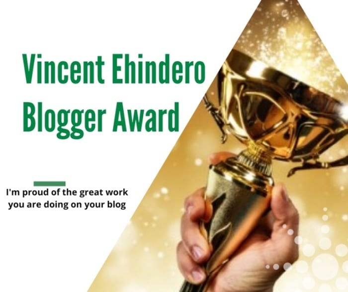 Vincent Ehindero Blogger Award Tag Feature Photo