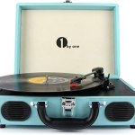 Turquoise Portable Turntable