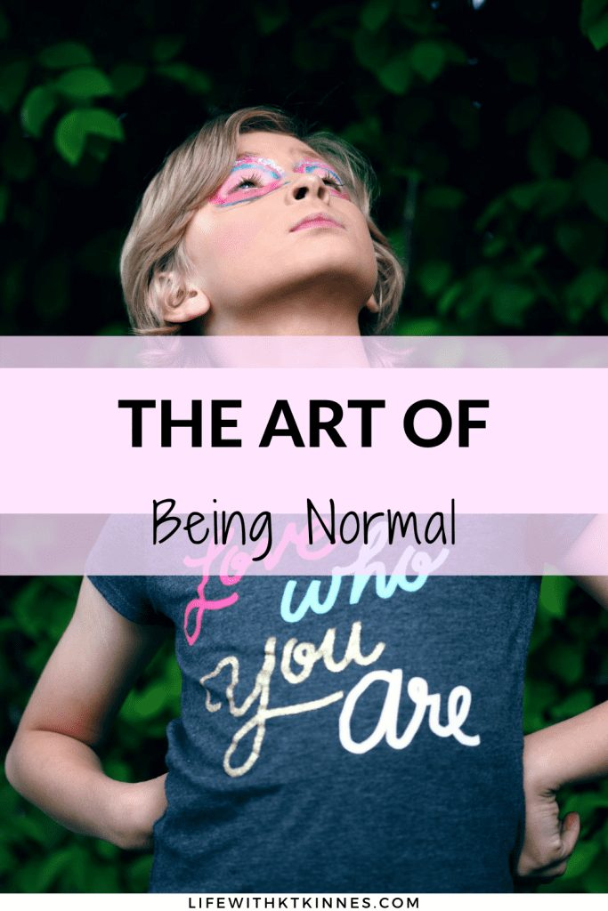 The Art Of Being Normal Pin