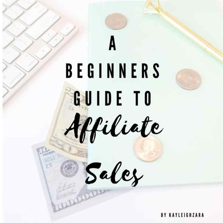 The Beginners Guide to Affiliate Sales