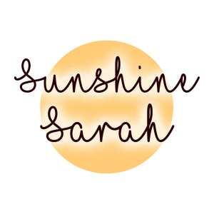 Sunshine Sarah Blog Button for May 2021 Advertising