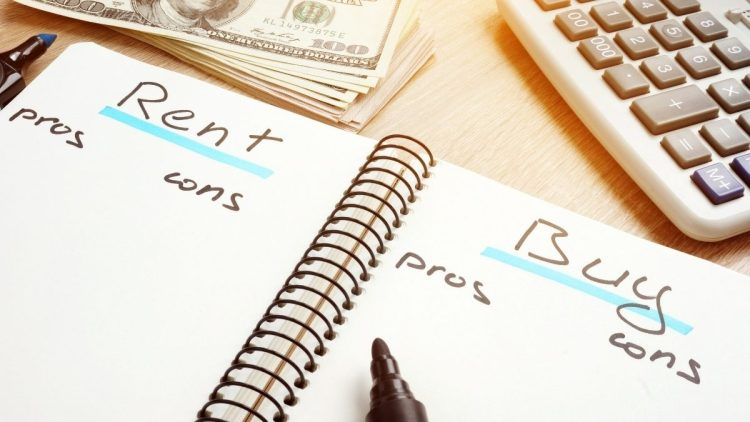 Notebook reading Renting vs Buying pros and cons