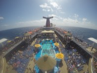 View of the Lido deck on Carnival Ecstasy