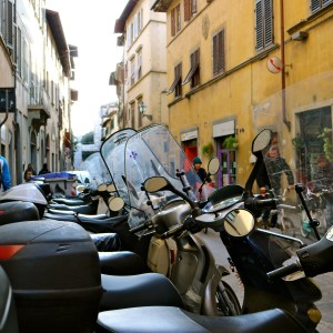 Italy Streets Scooters