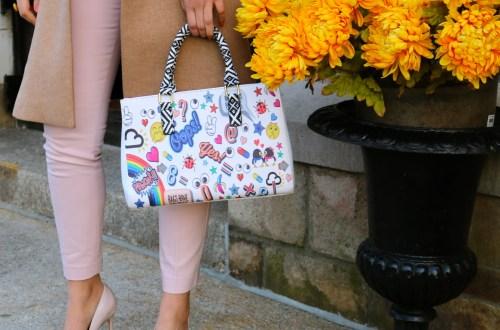 libby vilner easter outfit emoji bag