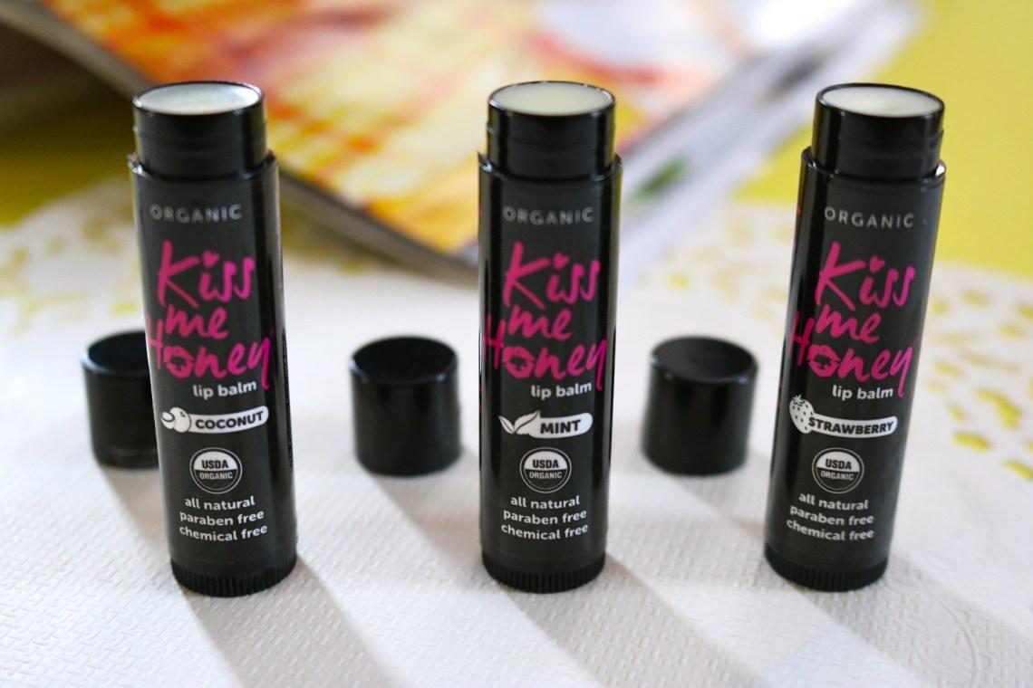 kiss me honey organic lip balms
