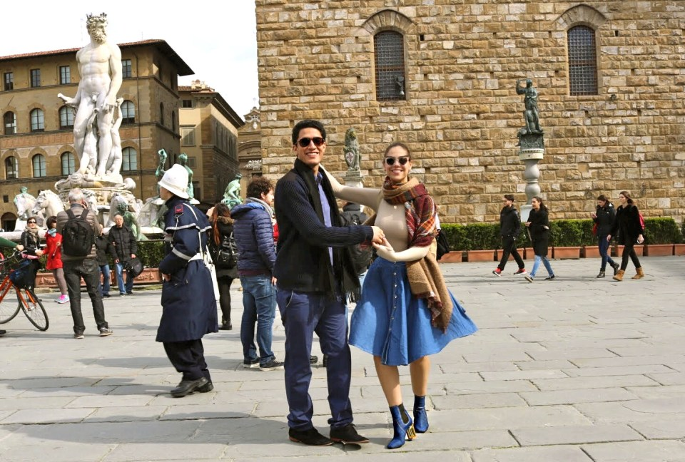 Libby Vilner, Italy with Brian