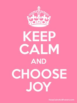 keep calm and joy