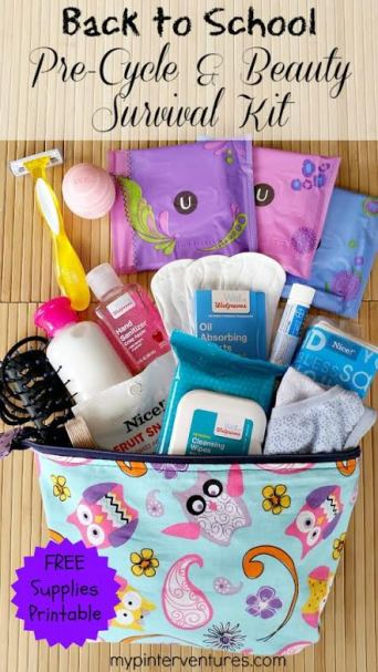 Back To School Pre-Cycle and Beauty Srvival Kit - Feature HMLP 46