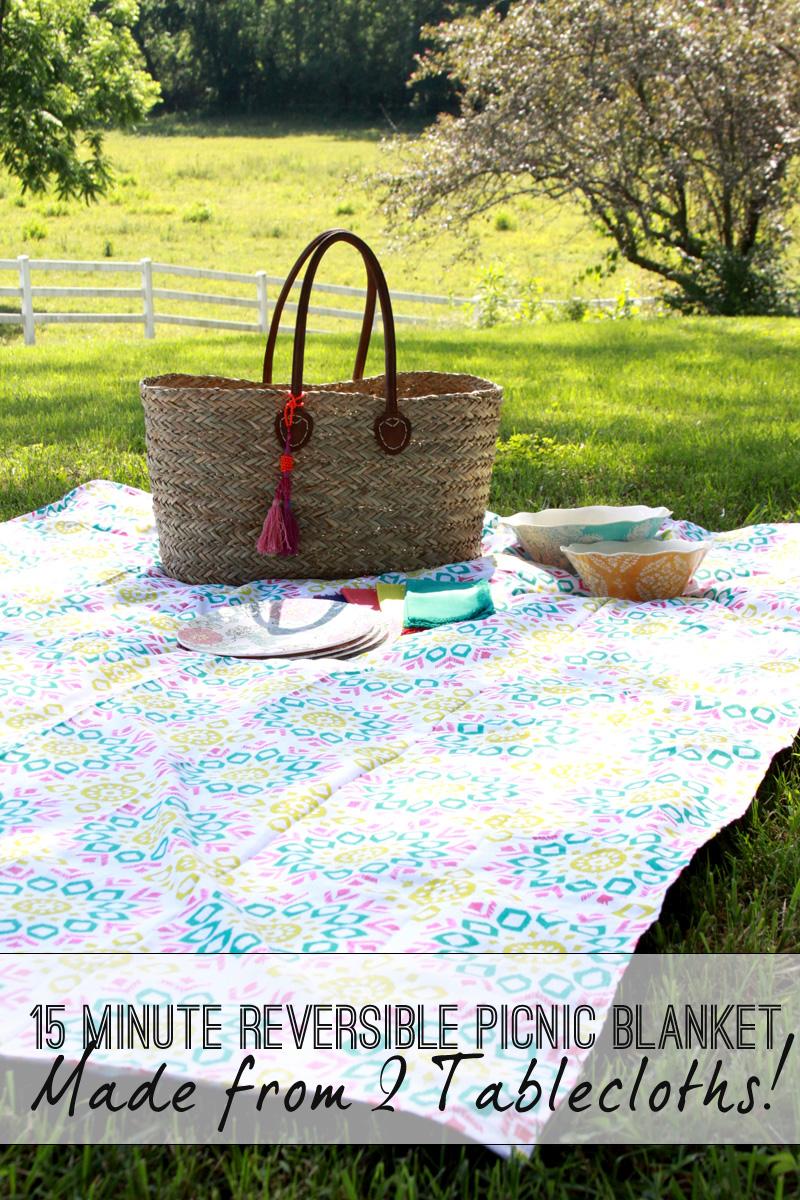DIY Reversible Picnic Blanket - HMLP 47 Feature