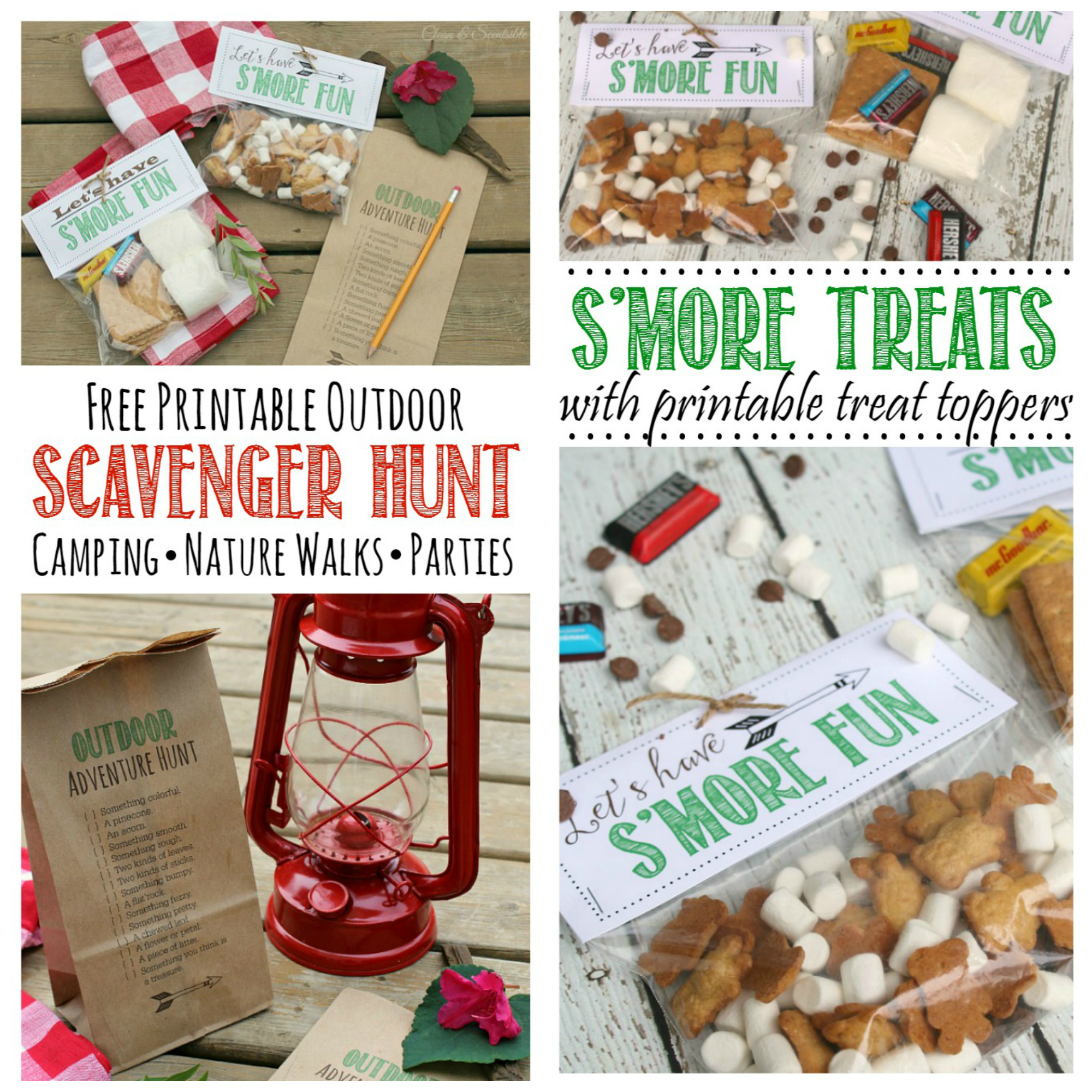 Outdoor Scavenger Hunt and S'Mores Printables - Featured Post HMLP 45