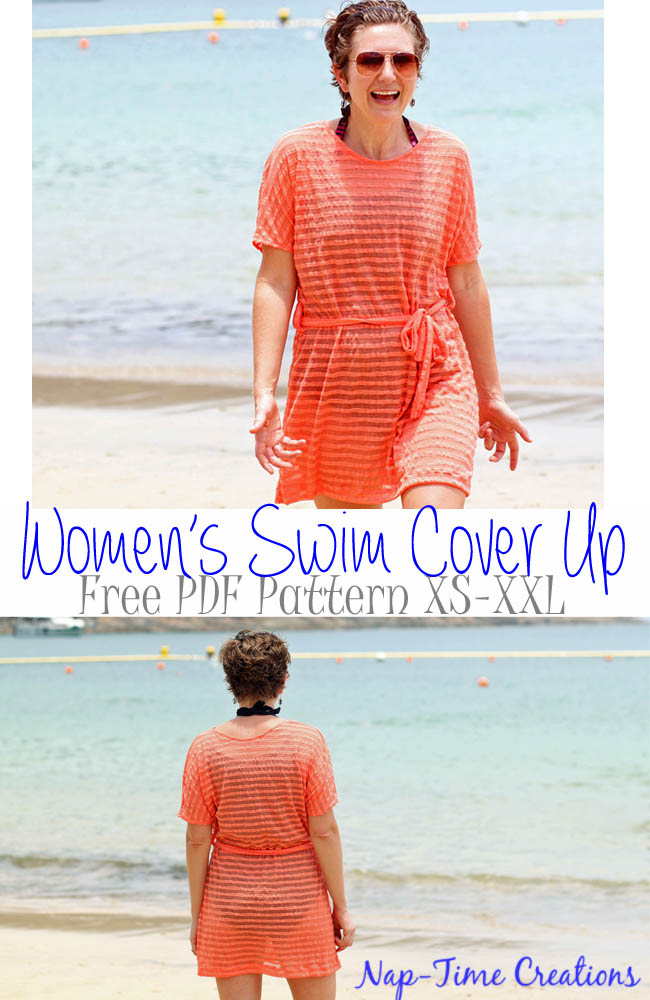 Women's Swim Cover-Up Pattern and Tutorial - Featured Post 45