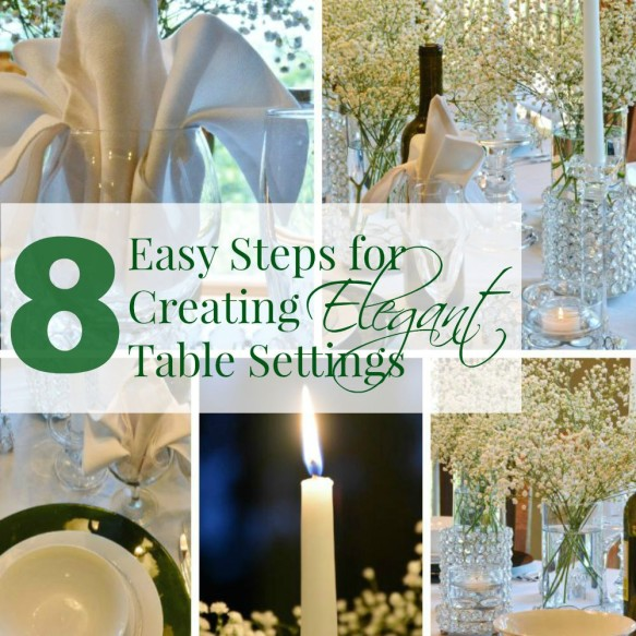 8 Easy Steps For Creating Elegant Table Settings - HMLP 49 Feature