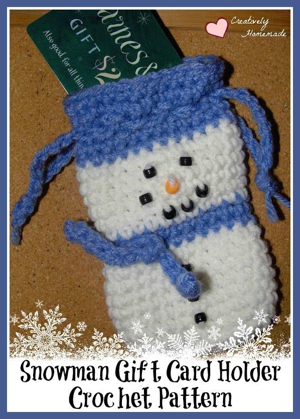 Snowman Crochet Gift Card Holder - Feature HMLP 61