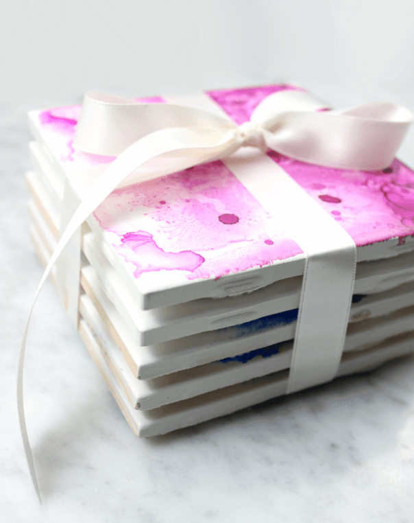 DIY Watercolor Coasters - Lines Across - HMLP 82 - Feature