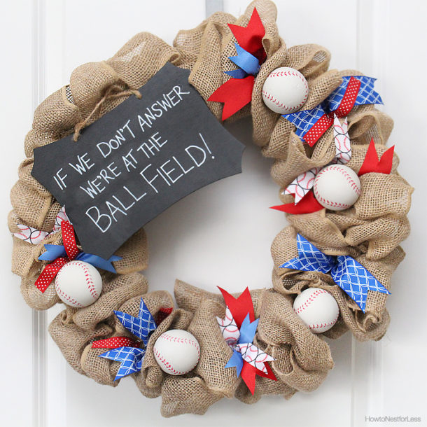 Baseball Wreath - How to Nest For Less - HMLP 88 - Feature