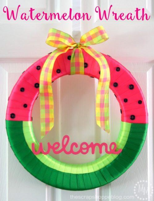Watermelon Wreath - The Scrap Shoppe Blog - HMLP 90 - Feature