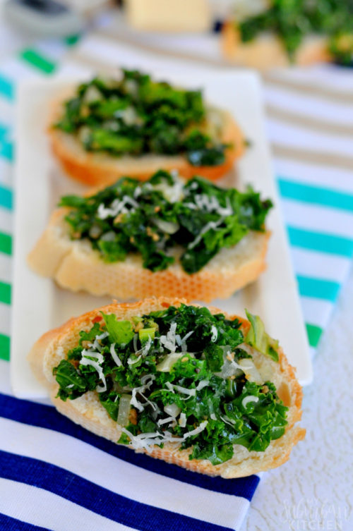 Spicy Kale Crostini - My Suburban Kitchen - HMLP 97 - Feature