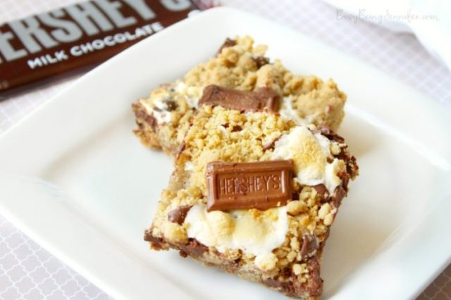 Oooey Gooey S'mores Bars - Busy Being Jennifer - HMLP 101 - Feature