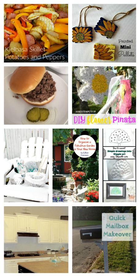 Come join the fun and link your blog posts at the Home Matters Linky Party 123. Find inspiration recipes, decor, crafts, organize -- Door Opens Friday EST.