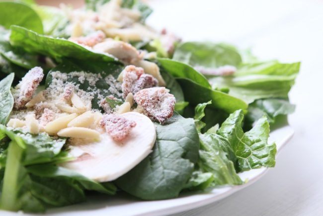 Spinach Bacon Salad - A Fresh Squeezed Life - HMLP 131 Feature
