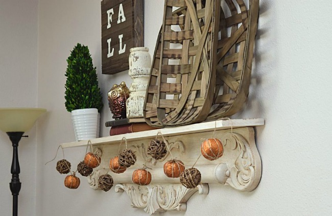 DIY Faux Pumpkin Garland - Timeless Creations MN - HMLP Feature 151