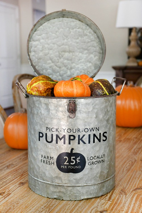 Fall Pumpkin Bucket - How To Nest For Less - HMLP 153 Feature
